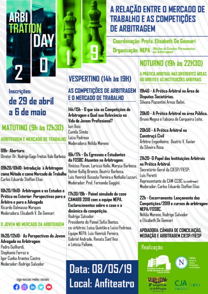 2bb7e7c7e4 FDSBC - Direito São Bernardo promove segunda edição do Arbitration ...